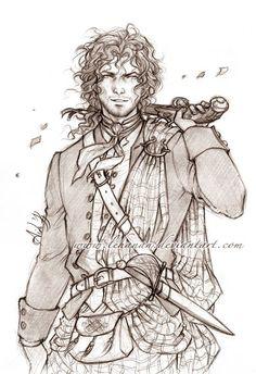 Jamie Fraser - The Highlander - by lehanan.deviantart.com