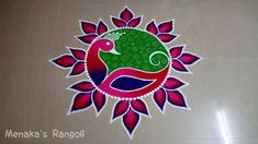 22 Quick and Easy Rangoli Ideas for Diwali 2018 you would love to copy from Easy Rangoli Designs Diwali, Rangoli Simple, Indian Rangoli Designs, Rangoli Designs Latest, Simple Rangoli Designs Images, Rangoli Designs Flower, Free Hand Rangoli Design, Rangoli Border Designs, Small Rangoli Design