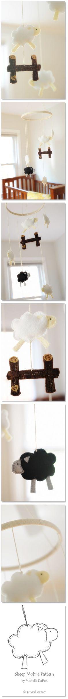 Hand Made_felt sheep mobile