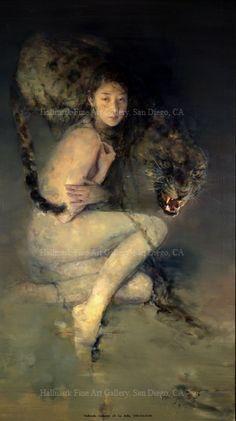 contemporary Chinese oil paintings by Chinese Artist Hu Jundi (Hu Jun di)胡峻涤油画