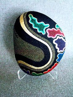 Unique OOAK 3D Artwork Painted Rock Signed Numbered by IshiGallery, $450.00