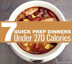 Healthy & delicious dinners don't have to take hours to prepare. We can prove that with these 7 Quick Prep Dinners Under 270 Calories Ww Recipes, Low Calorie Recipes, Slow Cooker Recipes, Cooking Recipes, Healthy Recipes, Dinner Recipes, Skinny Recipes, Dinner Ideas, Healthy Menu