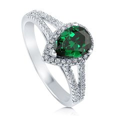 BERRICLE Sterling Silver Pear Simulated Emerald Cubic Zirconia CZ Halo Engagement Split Shank Ring BERRICLE http://www.amazon.com/dp/B00CF2HE3W/ref=cm_sw_r_pi_dp_JpmGwb1SCX50P