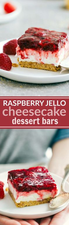 I can make this SugarFree! The ultimate BEST EVER Raspberry Jell-o Cheesecake Bars -- easy, delicious, and perfect for a party/potluck. Recipe via chelseasmessyapron.com