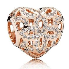 THE PANDORA ROSE GOLD PLATED LOVE AND APPRECIATION CHARM 780003CZ ALE-R in Jewellery & Watches, Fine Jewellery, Fine Charms & Charm Bracelets | eBay