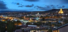 When you are not studying you can see this gorgeous view of the Center of Tbilisi at night from above.