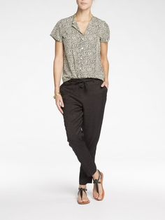 Printed Short Sleeve Shirt | Shirt s/s | Woman Clothing at Scotch & Soda