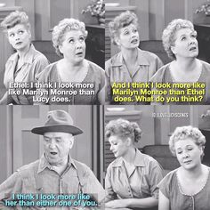 """A re-make of this scene I had posted before Another Marilyn Monroe mention in """"I Love Lucy!"""" – Episode: Ricky's Movie Offer  #ilovelucy #happybirthdayMarilynMonroe"""
