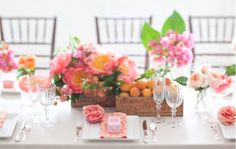 postcards and pretties: {pretty details} wooden box centerpieces