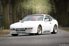 White Porsche 944 By _mori