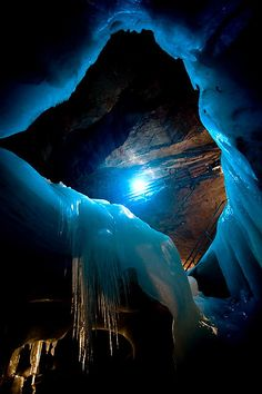 Ice Cave ― Meditation awakens you to your highest potential: a deep pool of silence and reflection within, which protects you from the storms of your life and mind and nourishes your link to the divine. ―