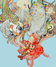 """""""Katja"""" by Lina Kusaite, via Behance"""
