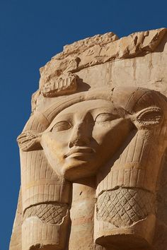 Hathor at Hatshepsut's temple (by Stephane Mee), Egypt