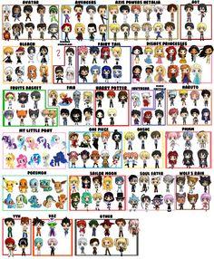 Custom Chibi Character Tote Bag, Custom Bag - Choose 4-6 Characters from Series of Naruto, Disney, FMA, Fairy Tail, Harry Potter, MLP & More