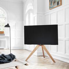 Tv Furniture, Classic Furniture, Furniture Design, Furniture Websites, Pied Support Tv, Tv Floor Stand, Living Room Tv, Colorful Furniture, Flooring