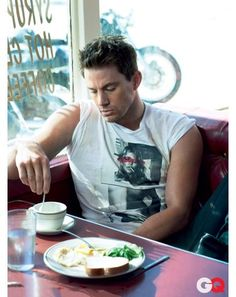 Jade... wake up baby!!  Channing.... mmm im tired!! lets go get some coffee then