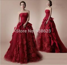 Discount wedding dresses online,custom tailored quality,newest styles, wholesale cheap prices! Red Lace Wedding Dress, Wedding Dress Patterns, Wedding Dresses 2014, Cheap Wedding Dress, Bridal Dresses, Wedding Gowns, Nice Dresses, Awesome Dresses, Formal Dresses