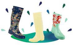 Walk in #rainboots with style