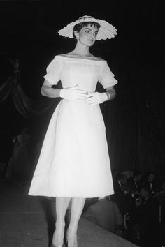 """JACKIE KENNEDY April 21, 1954  At the """"April in Paris"""" ball in New York City.  Photo: FPG/Getty Images"""