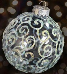 Glitter Swirls Ornament | Community Post: 39 Ways To Decorate A Glass Ornament