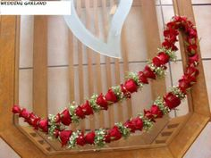 Garland of roses – Flower Riot Flower Garland Wedding, Paper Flower Garlands, Rose Garland, Floral Garland, Floral Wedding, Wedding Flowers, Wedding Garlands, Marriage Decoration, Wedding Stage Decorations