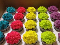 Cupcakes Coloridos (Techinocolor Cupcakes)