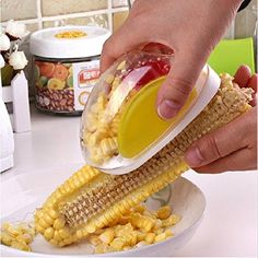 Material: Plastic Body + Stainless Steel BladeColor: send randomly.Item size: 11.5 * 7 cm. please read the size carefully before you buy.Item weight: about 100g Package includes:1 * Corn Stripper...