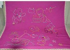 İşleme Bebek Battaniyesi Alpaka % 100 yün tamamı el yapımı Fiyat:150 tl