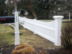 Tapered Vinyl Picket Fence Section
