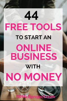 44 free tools to start an online business with no money Successful Home Business, Home Based Business, Starting A Business, Business Tips, Online Business, Business Products, Business Motivation, Creative Business, Need Money