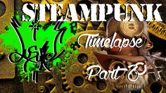 SteamPunk Top Hat & Skull Mask (Timelapse Part 2 )