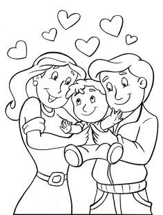 Parents Day Coloring Pages Family Coloring Pages, Truck Coloring Pages, Disney Coloring Pages, Coloring For Kids, Coloring Sheets, Coloring Books, Preschool Bible Activities, Preschool Crafts, Bible School Crafts