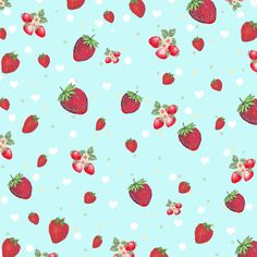 Free Digital Scrapbook Paper - Kitschy Retro Strawberry Collage