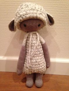 LUPO the lamb made by Monique B. / crochet pattern by lalylala