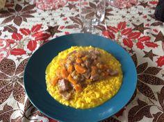 Risotto alla milanese con ossibuchi, Sunday's lunch.... Slurp!