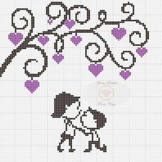 Amor- Romântico Cross Stitch Bookmarks, Cross Stitch Embroidery, Embroidery Patterns, Wedding Cross Stitch, Cross Stitch Heart, Loom Patterns, Quilt Patterns, Disney Cross Stitch Patterns, C2c Crochet