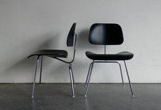 On our vintage wish list: a pair of Eames for Herman Miller molded plywood side chairs.