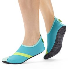 Fitkicks Foldable Flexible Activewear Flats (Gray and Lavendar Large)