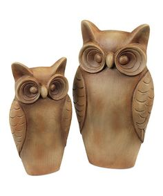 Take a look at this Owl Figurine Set by Melrose on #zulily today!