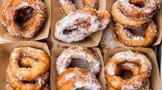 Sugar-dusted donut atSuper Duper, San Francisco, CA