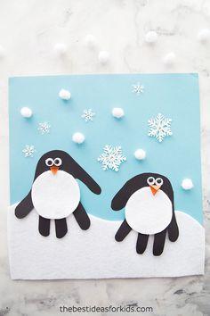 Penguin Handprint Art