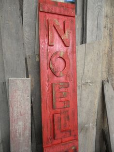 Primitive Noel sign made from old barnwood and by LynxCreekDesigns, $59.99