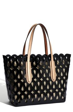 Sondra Roberts Patent Tote from Nordstrom... love it in the black, love it in the white, love it in the coral!