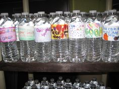 Test Taking Encouragement. Have the kids write words of encouragement and tape them to water bottles. Then pass the bottles out to students randomly on the day of the test.