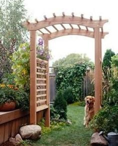 Awesome Pergola Trellis Ideas For Your Front Yard 31 Diy Pergola, Cheap Pergola, Outdoor Pergola, Pergola Plans, Gazebo, Pergola Ideas, Pergola Roof, Outdoor Ceremony, Garden Archway