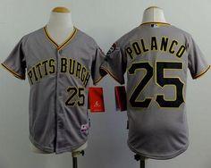 74ae8ee8cb9 Youth MLB Pittsburgh Pirates 25 polanco grey 2015 Jerseys