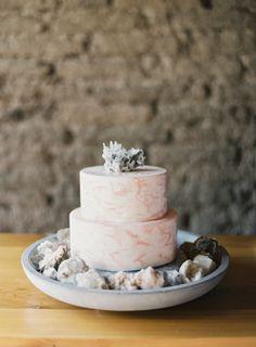 Ocean inspired cake: http://www.stylemepretty.com/2015/02/05/western-texas-desert-inspiration/ | Photography: NBarrett - http://nbarrettphotography.com/