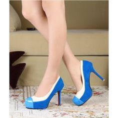 the something blue for my wedding Sexy multi-color sharp head love kissing platform pump, Size Blue/white for Something Blue, Platform Pumps, Shoe Collection, Beautiful Bride, Stiletto Heels, Kissing, Wedding Day, Blue And White, Size 2