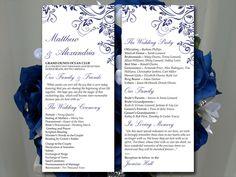 "Wedding Program Template - Navy Ceremony Program ""Charlan"" Ceremony Program - DIY Wedding Program - Printable Program Instant Download by PaintTheDayDesigns on Etsy"