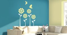You can transform the blank canvas of your walls with Berger stencils under Easy Clean range.
